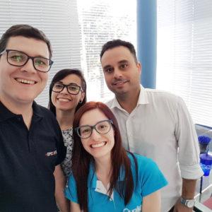 Jeison, Monise, Marina e Neville Fusco na Forlogic Software